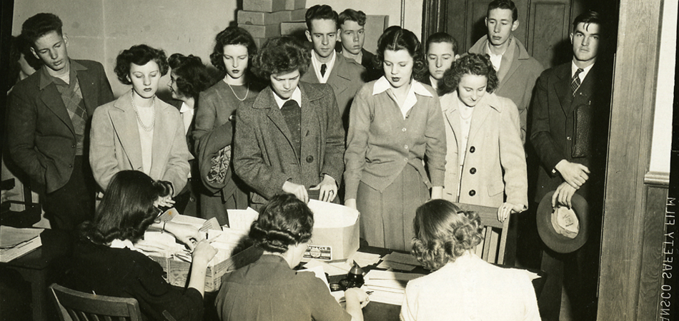 Student registration, Auburn, Alabama, 1946